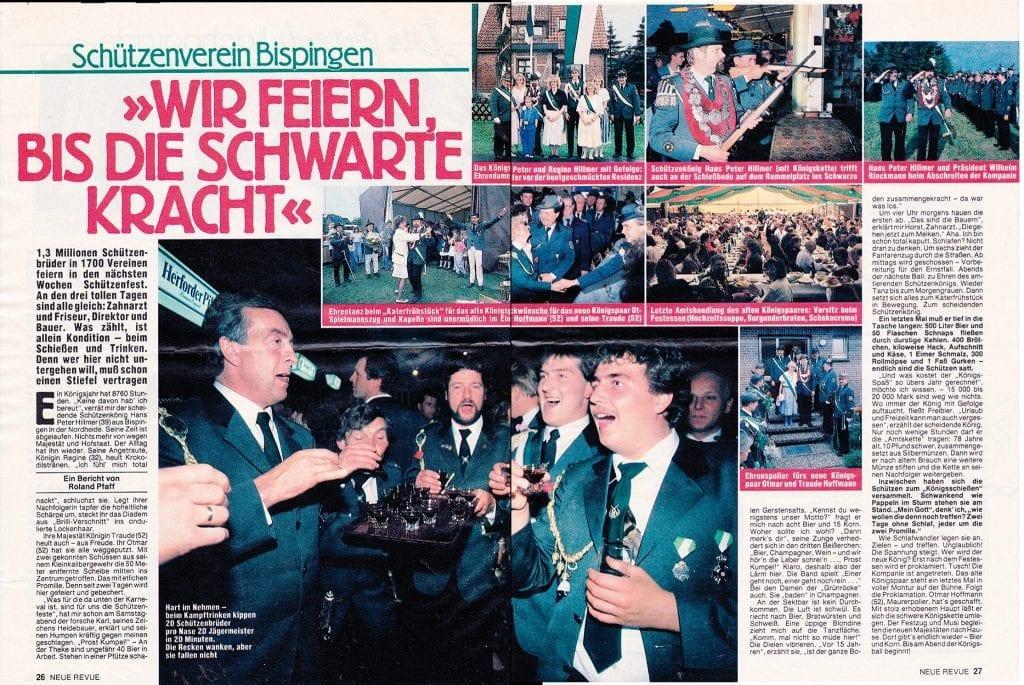 Neue Revue vom Bispinger Schützenfest 1988